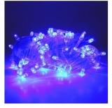 Instalatie pentru pomul de Craciun, 140 becuri LED, culoare albastra