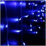 Instalatie tip ploaie, 260 becuri, 0.5 x 4 m, albastra