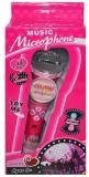 Microfon cu baterii, roz, in cutie