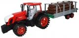 Tractor cu remorca si lemne, 77 cm