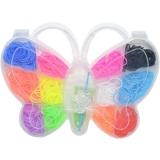 Set creativ de elastice pentru bratari, 360 piese, fluturas