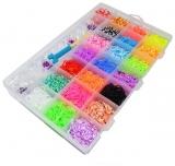 Set creativ de elastice pentru bratari, 4200 piese/cutie