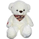 Ursulet de plus cu esarfa, 80 cm