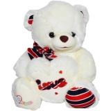 Ursulet de plus cu inimioara 30 cm