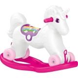 Balansoar Unicorn cu rotile Dolu