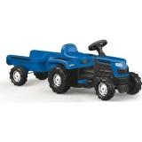 Tractor cu pedale si remorca albastru Dolu