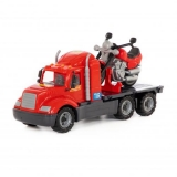 Camion Mike cu motocicleta Polesie