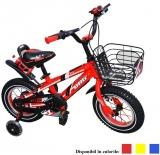 Bicicleta copii, cadru metalic, roti 12 inch, BBG, leduri, muzica, USB, cos metalic, diverse culori