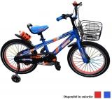 Bicicleta copii, baieti, cadru metalic, roti 18 inch, cos, diverse culori