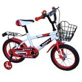 Bicicleta copii, cadru metalic, roti 14 inch, cos metalic, rosu John Speed