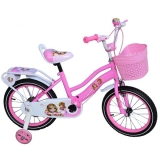 Bicicleta copii, fete, cadru metalic, roti 16 inch, cos plastic, mov, Free Star