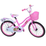 Bicicleta copii, fete, cadru metalic, roti 20 inch, cos plastic, mov Free Star