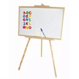 Whiteboard magnetic, rama lemn, 60 x 98 cm