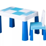 Masa multifunctionala + scaun, bleu