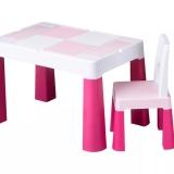 Masa multifunctionala + scaun, roz