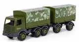 Camion militar cu prelata si remorca 49155 SuperTruck, 71 cm, Wader Polesie
