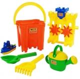 Set de joaca Galeata nisip cu accesorii 45164 Castle Maxi Wader Polesie