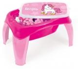 Masuta cu 42 cuburi, roz, Unicorn Dolu