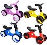 Bicicleta fara pedale, 4 roti, cu muzica si lumini, diverse modele