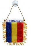 Steag auto 8 x 12 cm, cu ventuza, Romania