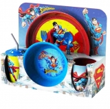Set vesela cu tacamuri Superman