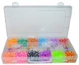 Set creativ de elastice pentru bratari, 2400 piese/cutie