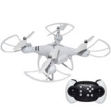 Drona  cu telecomanda RC, leduri, 27 cm, alba, Smart X-88