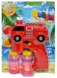 Jucarie Pistol pentru baloanele de sapun, forma de masina pompieri