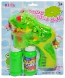 Jucarie Pistol pentru baloanele de sapun cu baterii, forma de broscuta