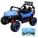Jeep cu acumulator, RC, 4 motoare, 12V, albastru