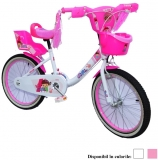 Bicicleta copii, fete, cadru metalic, roti 16 inch, cos plastic, diferite culori, Girl