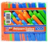 Betisoare scolare din plastic, 100 buc/set, Nebo