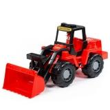 Tractor cu incarcator Mammoet, 42.5 cm, rosu Wader Polesie