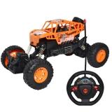 Jeep cu telecomanda, cu suspensii, portocaliu