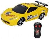 Masina de curse cu telecomanda RC, culoare galben, Extremee Racer