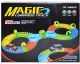 Set de joaca Pista fosforescenta si masinuta cu baterii, 90 piese/cutie