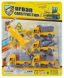 Set de joaca Constructii cu 4 camioane si avion