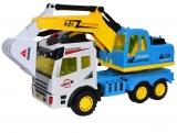 Jucarie Camion Excavator cu frictiune, in cutie