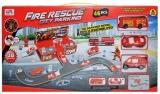 Set de joaca Parcare cu masini de pompieri si accesorii, 46 piese/cutie