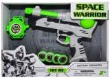 Set de joaca Pistol spatial cu discuri si ceas