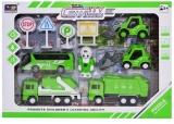 Set de joaca Salubrizare cu masini, figurina si accesorii
