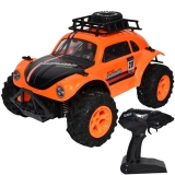 Jeep cu telecomanda, portocaliu