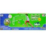 Poarta de fotbal din plastic, 93 cm, cu accesorii