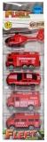 Set de joaca Vehicule Pompieri, 5 buc/cutie