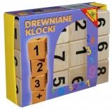 Cuburi din lemn, numere si semne aritmetice Tupiko