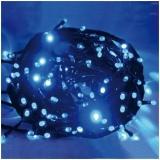 Instalatie pentru pomul de Craciun, 100 becuri LED mari, 9 m, culoare albastra