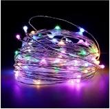 Instalatie pentru pomul de Craciun, fir cupru, 100 becuri LED, 10 m, multicolora