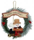 Coronita Merry Christmas, cu om de zapada