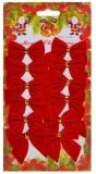 Fundite decorative rosii, 12 buc/set