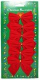 Fundite decorative rosii, 6 buc/set